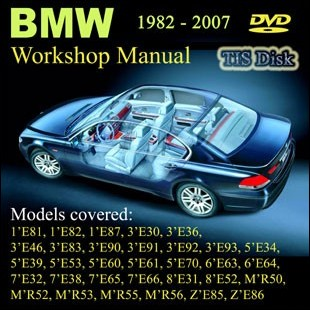 BMW Workshop Manual Petrol Diesel ALL SERIES 1982 until 2007