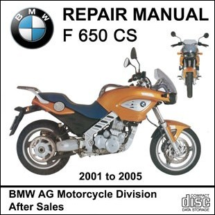 BMW F650CS workshop manual motorcycle F 650 CS