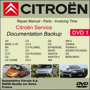 Citroen workshop manual C15 C2 C3 C4 Picasso C5 C6 C8