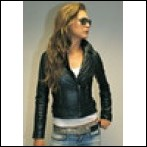 Vintage Ladies Studded Biker Jackets