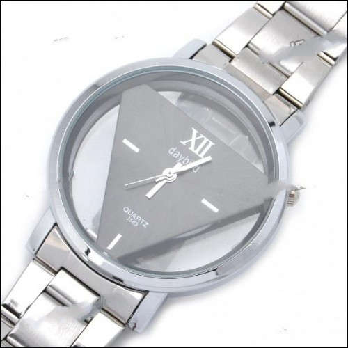 DayBird Triangle Style Stainless Steel Quartz Wrist Watch - Silver (1 x LR626)